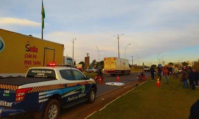 Una paraguaya falleció atropellada en Ponta Porã