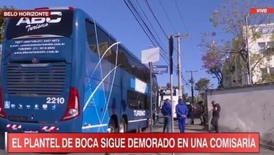 Futbolistas de Boca amanecen en comisaría de Belo Horizonte