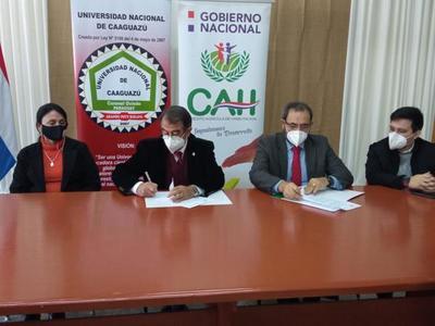 CAH firmó convenio de cooperación con la Universidad Nacional de Caaguazú – Prensa 5
