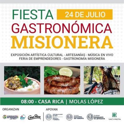 Fiesta Gastronómica Misionera se realizará este sábado en Asunción