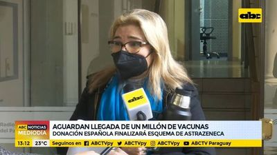 Aguardan llegada de un millón de vacunas