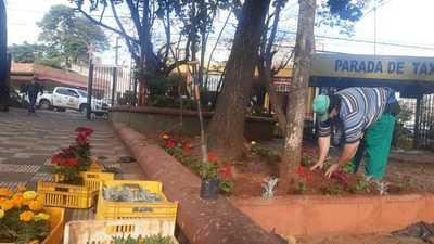 Por fin hacen arreglos en plaza Cerro Corá