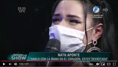 El desconsolado llanto de Nath Aponte