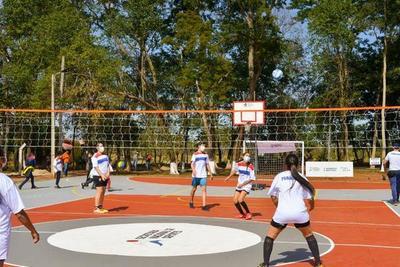 Secretaría de Deportes incorpora nueva Plaza Deportiva en el departamento de San Pedro
