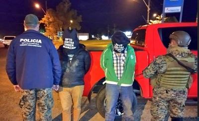 Fiscalía y fuerza policial aborta asalto a un camión de caudales, cuatro detenidos