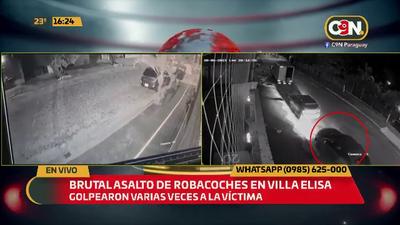Brutal asalto de robacoches en Villa Elisa.