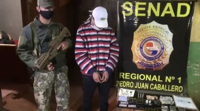 Detienen a joven proveedor de cocaína y marihuana en Pedro Juan Caballero