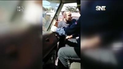 Asunción: Incidente entre conductor y PMT