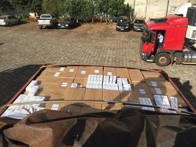 Decomisan más de 750 mil gruesas de cigarrillo paraguayo