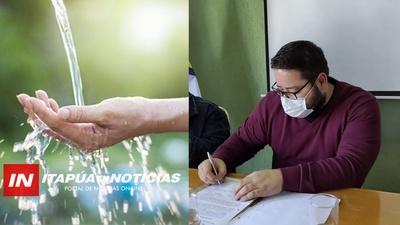 ACTO DE ENTREGA DE OBRAS PARA MEJORAMIENTO DE CALIDAD DE AGUA EN ITAPÚA.