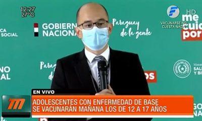 Así será la vacunación a adolescentes con patologías este viernes
