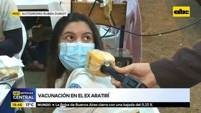 Vacunación en el ex Aratirí
