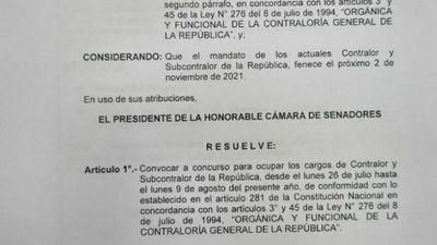 El Senado convoca a llenar cargos en la Contraloría  y la Defensoría