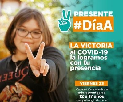 Día A: vacunarán a adolescentes con comorbilidades este viernes