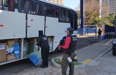 Operación Escudo: Requisan siete buses de turismo en Foz de Yguazú