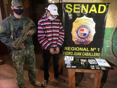 Imputan a supuesto microtraficante detenido en Pedro Juan