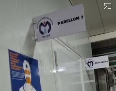 CAMAS VACÍAS: CIERRAN DOS PABELLONES RESPIRATORIOS EN CDE