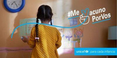"""Unicef hace llamado a adultos con campaña """"Me vacuno por vos"""""""