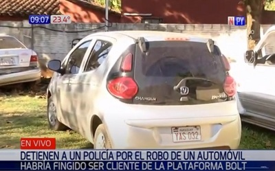 Detienen a suboficial de GEO por robo de vehículo a mano armada
