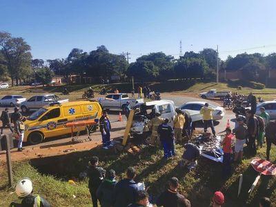 Reportan otro grave accidente en el Km 12 de CDE