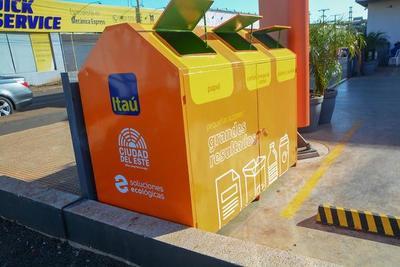 """Instalan """"Ecopunto"""" para materiales reciclables en CDE"""