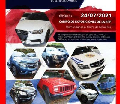 Autos de lujo en subasta de Senabico mañana