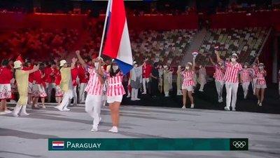 Atletas paraguayos desfilaron en la apertura oficial de los Juegos Olímpicos de Tokio