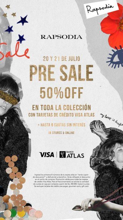 Banco Atlas y Rapsodia ofrecen Pre Sale exclusivo