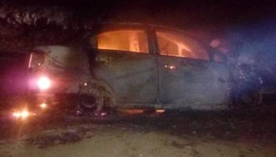 PJC: Desconocidos quemaron vehículo de un candidato a concejal