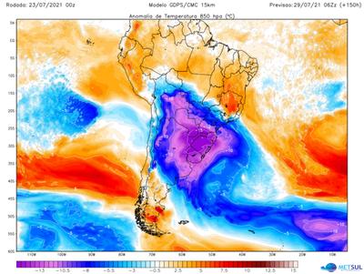 Nuevo ingreso de aire polar podría registrarse desde el lunes