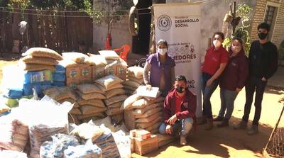MDS entregó en la semana 10.896 kilos de alimentos