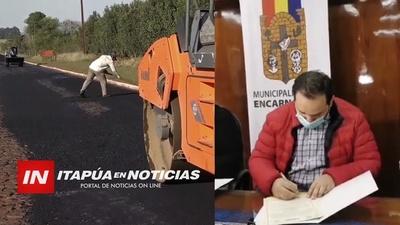 MOPC DESEMBARCA PARA OBRAS DE REGULACIÓN ASFÁLTICA EN ENCARNACIÓN.