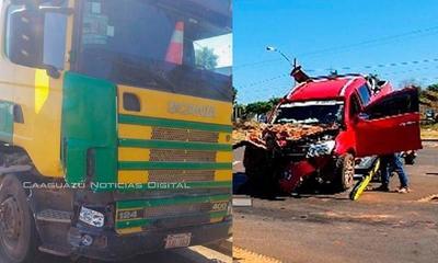 Caaguazú; Conductor en supuesto estado de ebriedad involucrado en accidente de tránsito – Prensa 5