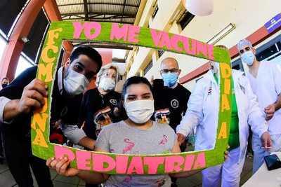Califican de esperanzadora jornada de vacunación de niños y adolescentes