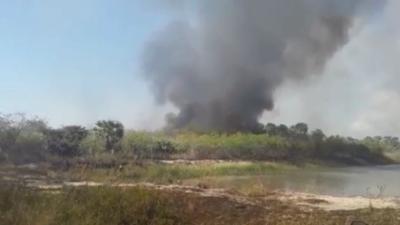 Incendios amenazan a Fuerte Olimpo y Pantanal