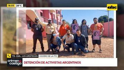 Demoran a activistas argentinos