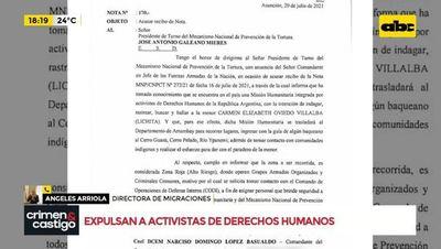 Expulsarán a activistas de derechos humanos