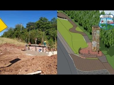 AVANZA CONSTRUCCIÓN DEL PÓRTICO DE BIENVENIDA EN CAPITÁN MIRANDA