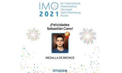 Sebastián Cano logra medalla de bronce en la Olimpiada Internacional de Matemática 2021 – Prensa 5