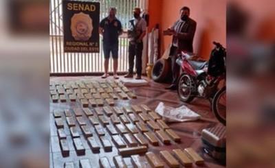 Acusan a hombre detenido con 100kg de droga oculta en una heladera