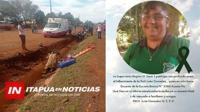FALLECE DOCENTE DE SAN RAFAEL DEL PNÁ. TRAS ACCIDENTE EN MOTOCICLETA EN NATALIO.