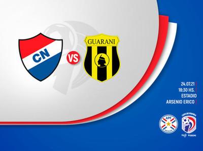 Torneo Clausura: Nacional recibe a Guaraní en barrio Obrero