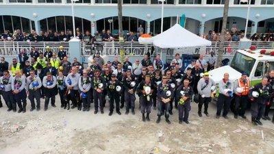 Finalizan labores en lugar del derrumbe, a un mes de la tragedia en Miami