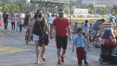 Ciudadanos aprovecharon el buen tiempo para salir a pasear