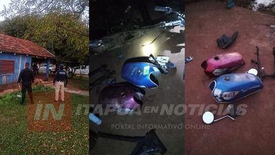 ALLANAN CASA DE PIRAÑITA E INCAUTAN PARTES DE MOTOCICLETAS