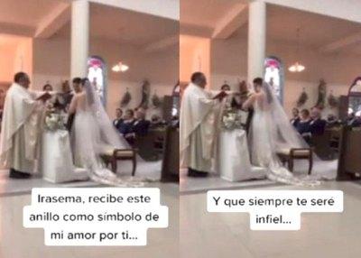 "Crónica / Novio prometió ser ""infiel"" en plena ceremonia de boda"