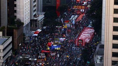 Brasileños vuelven a la calle pidiendo juicio de Bolsonaro
