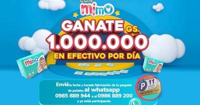 La Nación / Pañales MIMO regala un millón de guaraníes en efectivo por día