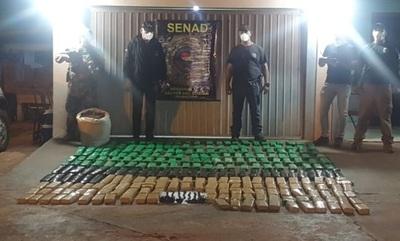 Detectan puerto clandestino con más de 200 kilos de marihuana en Canindeyú