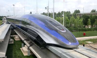 China revela un nuevo tren ultrarrápido de levitación que puede viajar a 600 km/h